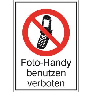 Kombischild, Foto-Handy benutzen verboten (Ausführung: Kombischild, Foto-Handy benutzen verboten (Art.Nr.: 43.1163))