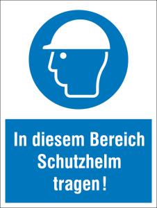 Kombischild, In diesem Bereich Schutzhelm tragen! (Ausführung: Kombischild, In diesem Bereich Schutzhelm tragen! (Art.Nr.: 43.a7185))