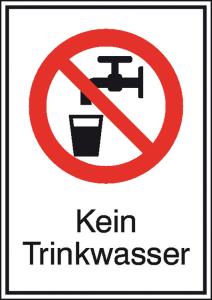 Kombischild, Kein Trinkwasser (Maße(BxH)/Material: 105x148mm/Folie,selbstklebend (Art.Nr.: 21.a6070))
