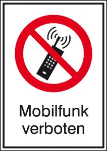 Kombischild, Mobilfunk verboten (Ausführung: Kombischild, Mobilfunk verboten (Art.Nr.: 21.1052))