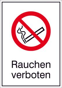 Kombischild, Rauchen verboten (Maße(BxH)/Material: 105x148mm/Folie,selbstklebend (Art.Nr.: 21.a6030))