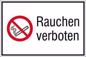 Kombischild, Rauchen verboten, Querformat (Maße(BxH)/Material: 300x200mm/Kunststoff<br>witterungsbeständig (Art.Nr.: 43.a6034))