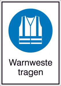 Kombischild, Warnweste tragen (Ausführung: Kombischild, Warnweste tragen (Art.Nr.: 43.a7360))