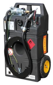 Kraftstofftrolley -CEMO Ex0- 95 Liter, Polyethylen, ADR 1.1.3.1 c, mit Hand- oder Elektropumpe (Modell:  <b>Handpumpe</b> (Art.Nr.: 32422))