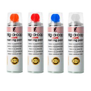 Kreidespray -trig-a-cap chalk-, 500 ml, kurzfristig, VPE 12 Stk. (Farbe/Menge: weiß / VPE 12 Stk. (Art.Nr.: 34830))