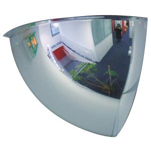 Kugelspiegel Volum aus Plexiglas (PMMA), 1 / 8 Kugel, 2 Blickrichtungen (Maße/max. Beobachtungsabstand: Ø 660mm/4m (Art.Nr.: 32816))