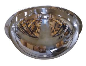 Kugelspiegel aus Polycabonat, 1 / 2 Kugel, 4 Blickrichtungen (Maße/max. Beobachtungsabstand/Gewicht: Ø 660mm/8m/6 kg (Art.Nr.: 36375))