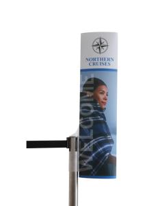 Kundenstopper für Gurtpfosten, individuell bedruckbar (Ausführung: Kundenstopper für Gurtpfosten, individuell bedruckbar (Art.Nr.: 40540))