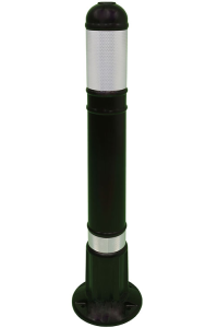 Kunststoffstilpoller -Vienna- aus Polyehtylen, 800 mm, schwarz mit retroreflektierendem Streifen (Ausführung: Kunststoffstilpoller -Vienna- aus Polyehtylen, 800 mm, schwarz mit retroreflektierendem Streifen (Art.Nr.: 34172))