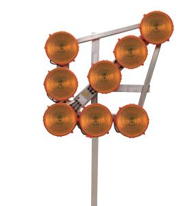 LED-Leuchtpfeil HLP 8 (Blinkpfeil) 12 / 24V, 8-LED-Richtstrahler RS 2000, BASt-geprüft (Größe (LxBxT)/Ausführung: 850x850x150 mm (Art.Nr.: 34706))