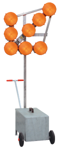 LED-Leuchtpfeil HLP 8, fahrbar (Blinkpfeil) 12 / 24V, 8-LED-Richtstrahler RS 2000 Plus, BASt-geprüft nach TL-Warnleuchten (Ausführung: LED-Leuchtpfeil HLP 8, fahrbar (Blinkpfeil) 12/24V, 8-LED-Richtstrahler RS 2000 Plus, BASt-geprüft nach T
