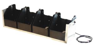 Lade- und Transportbox 4-fach, 12 V für Euro-Synchron / Euro-Blitz (Ausführung: Lade- und Transportbox 4-fach, 12 V für Euro-Synchron/Euro-Blitz (Art.Nr.: 18448))