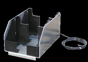 Lade- und Transportbox aus Edelstahl für Tele-Blitz, bis zu 4 Akku-Leuchten (Modell: für 2 Leuchten (Art.Nr.: 18715))