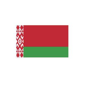 Länderflagge Belarus (Weißrussland), Stoffqualität FlagTop 110 g / m² oder 160 g / m² (Maße (LxB)/Format/Konfektionierung/Stoffqualität:  <b>60 x 90 cm</b> (Querformat)<br>mit Seil und Schlaufe<br>FlagTop  <b>110 g/m&sup