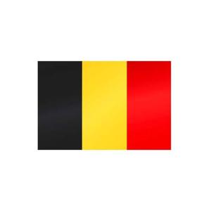 Länderflagge Belgien, Stoffqualität FlagTop 110 g / m² oder 160 g / m² (Maße (LxB)/Format/Konfektionierung/Stoffqualität:  <b>60 x 90 cm</b> (Querformat)<br>mit Seil und Schlaufe<br>FlagTop  <b>110 g/m²</b><br>für Fa