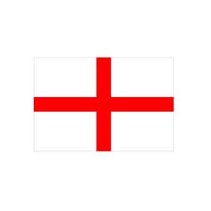 Länderflagge England, Stoffqualität FlagTop 110 g / m² oder 160 g / m² (Maße (LxB)/Format/Konfektionierung/Stoffqualität:  <b>60 x 90 cm</b> (Querformat)<br>mit Seil und Schlaufe<br>FlagTop  <b>110 g/m²</b><br>für Fa