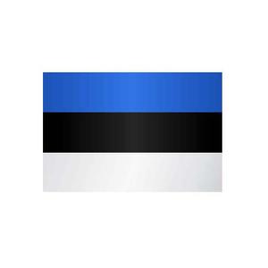 Länderflagge Estland, Stoffqualität FlagTop 110 g / m² oder 160 g / m² (Maße (LxB)/Format/Konfektionierung/Stoffqualität:  <b>60 x 90 cm</b> (Querformat)<br>mit Seil und Schlaufe<br>FlagTop  <b>110 g/m²</b><br>für Fa
