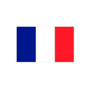 Länderflagge Frankreich, Stoffqualität FlagTop 110 g / m² oder 160 g / m² (Maße (LxB)/Format/Konfektionierung/Stoffqualität:  <b>60 x 90 cm</b> (Querformat)<br>mit Seil und Schlaufe<br>FlagTop  <b>110 g/m²</b><br>für