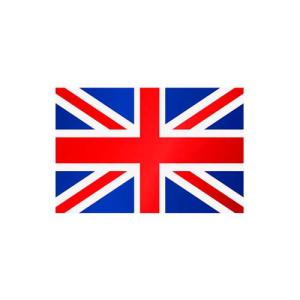 Länderflagge Großbritannien, Stoffqualität FlagTop 110 g / m² oder 160 g / m² (Maße (LxB)/Format/Konfektionierung/Stoffqualität:  <b>60 x 90 cm</b> (Querformat)<br>mit Seil und Schlaufe<br>FlagTop  <b>110 g/m²</b><b