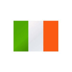 Länderflagge Irland, Stoffqualität FlagTop 110 g / m² oder 160 g / m² (Maße (LxB)/Format/Konfektionierung/Stoffqualität:  <b>60 x 90 cm</b> (Querformat)<br>mit Seil und Schlaufe<br>FlagTop  <b>110 g/m²</b><br>für Fah