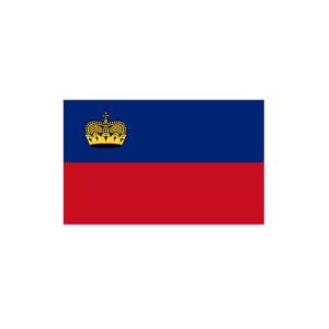 Länderflagge Liechtenstein, Stoffqualität FlagTop 110 g / m² oder 160 g / m², (Maße (LxB)/Format/Konfektionierung/Stoffqualität:  <b>60 x 90 cm</b> (Querformat)<br>mit Seil und Schlaufe<br>FlagTop  <b>110 g/m²</b><br>f&uu