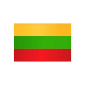 Länderflagge Litauen, Stoffqualität FlagTop 110 g / m² oder 160 g / m² (Maße (LxB)/Format/Konfektionierung/Stoffqualität:  <b>60 x 90 cm</b> (Querformat)<br>mit Seil und Schlaufe<br>FlagTop  <b>110 g/m²</b><br>für Fa