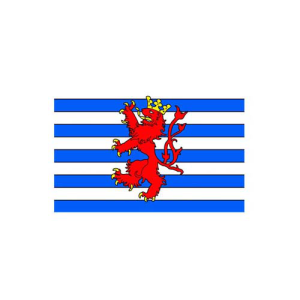 Länderflagge Luxemburg, Stoffqualität FlagTop 110 g / m² oder 160 g / m² (Maße (LxB)/Format/Konfektionierung/Stoffqualität:  <b>60 x 90 cm</b> (Querformat)<br>mit Seil und Schlaufe<br>FlagTop  <b>110 g/m²</b><br>für