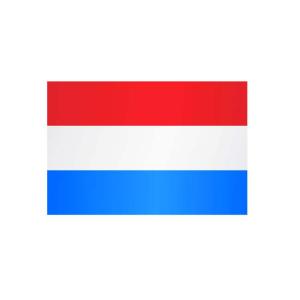Länderflagge Luxemburg (ohne Wappen), Stoffqualität FlagTop 110 g / m² oder 160 g / m² (Maße (LxB)/Format/Konfektionierung/Stoffqualität:  <b>60 x 90 cm</b> (Querformat)<br>mit Seil und Schlaufe<br>FlagTop  <b>110 g/m²</b