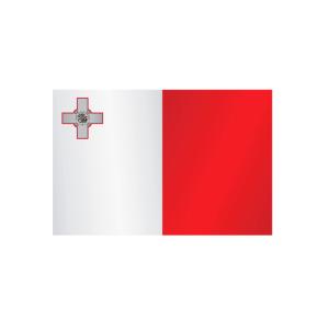 Länderflagge Malta, Stoffqualität FlagTop 110 g / m² oder 160 g / m² (Maße (LxB)/Format/Konfektionierung/Stoffqualität:  <b>60 x 90 cm</b> (Querformat)<br>mit Seil und Schlaufe<br>FlagTop  <b>110 g/m²</b><br>für Fahn