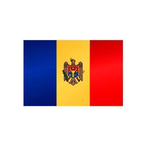 Länderflagge Moldawien, Stoffqualität FlagTop 110 g / m² oder 160 g / m² (Maße (LxB)/Format/Konfektionierung/Stoffqualität:  <b>60 x 90 cm</b> (Querformat)<br>mit Seil und Schlaufe<br>FlagTop  <b>110 g/m²</b><br>für