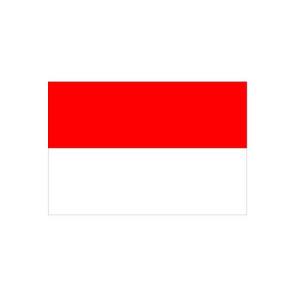 Länderflagge Monaco, Stoffqualität FlagTop 110 g / m² oder 160 g / m² (Maße (LxB)/Format/Konfektionierung/Stoffqualität:  <b>60 x 90 cm</b> (Querformat)<br>mit Seil und Schlaufe<br>FlagTop  <b>110 g/m²</b><br>für Fah