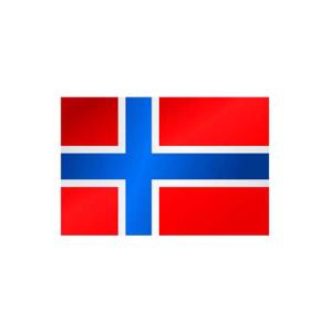 Länderflagge Norwegen, Stoffqualität FlagTop 110 g / m² oder 160 g / m² (Maße (LxB)/Format/Konfektionierung/Stoffqualität:  <b>60 x 90 cm</b> (Querformat)<br>mit Seil und Schlaufe<br>FlagTop  <b>110 g/m²</b><br>für F