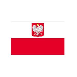 Länderflagge Polen, Stoffqualität FlagTop 110 g / m² oder 160 g / m² (Maße (LxB)/Format/Konfektionierung/Stoffqualität:  <b>60 x 90 cm</b> (Querformat)<br>mit Seil und Schlaufe<br>FlagTop  <b>110 g/m²</b><br>für Fahn