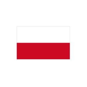 Länderflagge Polen (ohne Wappen), Stoffqualität FlagTop 110 g / m² oder 160 g / m² (Maße (LxB)/Format/Konfektionierung/Stoffqualität:  <b>60 x 90 cm</b> (Querformat)<br>mit Seil und Schlaufe<br>FlagTop  <b>110 g/m²</b><br