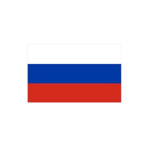 Länderflagge Russland, Stoffqualität FlagTop 110 g / m² oder 160 g / m² (Maße (LxB)/Format/Konfektionierung/Stoffqualität:  <b>60 x 90 cm</b> (Querformat)<br>mit Seil und Schlaufe<br>FlagTop  <b>110 g/m²</b><br>für F