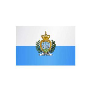 Länderflagge San Marino, Stoffqualität FlagTop 110 g / m² oder 160 g / m² (Maße (LxB)/Format/Konfektionierung/Stoffqualität:  <b>60 x 90 cm</b> (Querformat)<br>mit Seil und Schlaufe<br>FlagTop  <b>110 g/m²</b><br>für