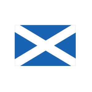 Länderflagge Schottland, Stoffqualität FlagTop 110 g / m² oder 160 g / m² (Maße (LxB)/Format/Konfektionierung/Stoffqualität:  <b>60 x 90 cm</b> (Querformat)<br>mit Seil und Schlaufe<br>FlagTop  <b>110 g/m²</b><br>für