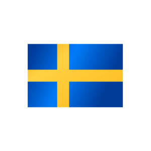 Länderflagge Schweden, Stoffqualität FlagTop 110 g / m² oder 160 g / m² (Maße (LxB)/Format/Konfektionierung/Stoffqualität:  <b>60 x 90 cm</b> (Querformat)<br>mit Seil und Schlaufe<br>FlagTop  <b>110 g/m²</b><br>für F