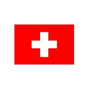 Länderflagge Schweiz, Stoffqualität FlagTop 110 g / m² oder 160 g / m² (Maße (LxB)/Format/Konfektionierung/Stoffqualität:  <b>60 x 90 cm</b> (Querformat)<br>mit Seil und Schlaufe<br>FlagTop  <b>110 g/m²</b><br>für Fa