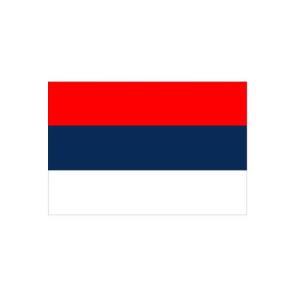 Länderflagge Serbien (ohne Wappen), Stoffqualität FlagTop 110 g / m² oder 160 g / m² (Maße (LxB)/Format/Konfektionierung/Stoffqualität:  <b>60 x 90 cm</b> (Querformat)<br>mit Seil und Schlaufe<br>FlagTop  <b>110 g/m²</b><