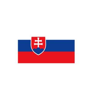 Länderflagge Slowakei, Stoffqualität FlagTop 110 g / m² oder 160 g / m² (Maße (LxB)/Format/Konfektionierung/Stoffqualität:  <b>60 x 90 cm</b> (Querformat)<br>mit Seil und Schlaufe<br>FlagTop  <b>110 g/m²</b><br>für F