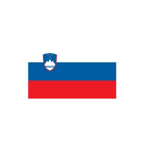 Länderflagge Slowenien, Stoffqualität FlagTop 110 g / m² oder 160 g / m² (Maße (LxB)/Format/Konfektionierung/Stoffqualität:  <b>60 x 90 cm</b> (Querformat)<br>mit Seil und Schlaufe<br>FlagTop  <b>110 g/m²</b><br>für