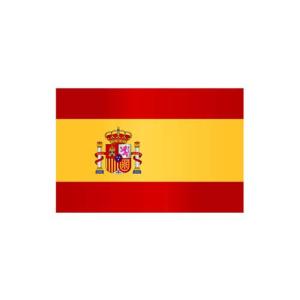 Länderflagge Spanien, Stoffqualität FlagTop 110 g / m² oder 160 g / m² (Maße (LxB)/Format/Konfektionierung/Stoffqualität:  <b>60 x 90 cm</b> (Querformat)<br>mit Seil und Schlaufe<br>FlagTop  <b>110 g/m²</b><br>für Fa
