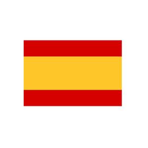Länderflagge Spanien (ohne Wappen), Stoffqualität FlagTop 110 g / m² oder 160 g / m² (Maße (LxB)/Format/Konfektionierung/Stoffqualität:  <b>60 x 90 cm</b> (Querformat)<br>mit Seil und Schlaufe<br>FlagTop  <b>110 g/m²</b><