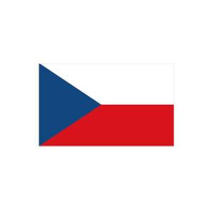 Länderflagge Tschechien, Stoffqualität FlagTop 110 g / m² oder 160 g / m² (Maße (LxB)/Format/Konfektionierung/Stoffqualität:  <b>60 x 90 cm</b> (Querformat)<br>mit Seil und Schlaufe<br>FlagTop  <b>110 g/m²</b><br>für
