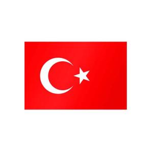 Länderflagge Türkei, Stoffqualität FlagTop 110 g / m² oder 160 g / m² (Maße (LxB)/Format/Konfektionierung/Stoffqualität:  <b>60 x 90 cm</b> (Querformat)<br>mit Seil und Schlaufe<br>FlagTop  <b>110 g/m²</b><br>fü