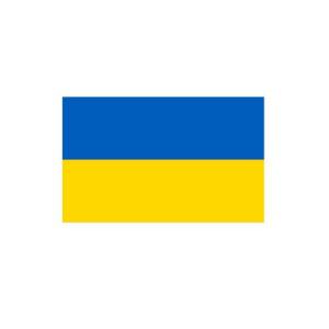Länderflagge Ukraine, Stoffqualität FlagTop 110 g / m² oder 160 g / m² (Maße (LxB)/Format/Konfektionierung/Stoffqualität:  <b>60 x 90 cm</b> (Querformat)<br>mit Seil und Schlaufe<br>FlagTop  <b>110 g/m²</b><br>für Fa