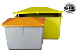 Lagerbehälter und Vielzweckbehälter aus GFK, 200 - 2200 Liter, ohne Entnahmeöffnung (Größe/ Variante/ Farbe:  <b>200 Liter</b>/89x59x67cm/Behälter Gelb/Deckel Gelb/ohne Entnahmeöffnung (Art.Nr.: 15857))