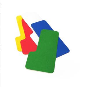 Lagerplatzkennzeichnung -WT-5112- L-Stücke, für Innenbereich, Breite 50 und 75 mm, VPE 20 Stk. (Breite/Farbe/Verpackungseinheit: 50 mm /  <b>rot</b> / VPE 20 Stk. (Art.Nr.: 31740))