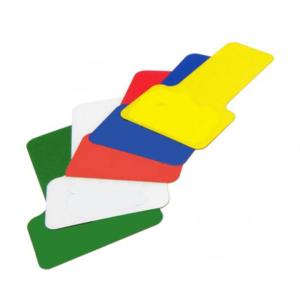 Lagerplatzkennzeichnung -WT-5112- T-Stücke, für Innenbereich, Breite 50 und 75 mm, VPE 20 Stk. (Breite/Farbe/Verpackungseinheit: 50 mm /  <b>rot</b> / VPE 20 Stk. (Art.Nr.: 31758))